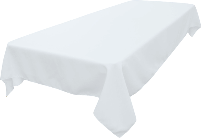 60inx108in White Tablecloth