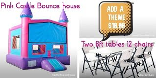 Pink Bounce House Package