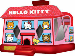 4 in 1 Hello Kitty Bounce House Combo (Wet/Dry)