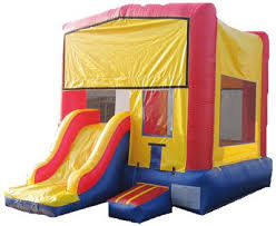 3 in 1 Multi Color Bounce House Combo (Wet/Dry)