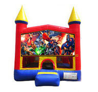Justice League Bounce house 13x13