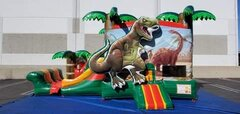 Dinosaur Bounce House Slide Combo Wet or Dry