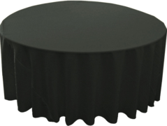 120in Black Round Tablecloth (Fits our 60in Round Tables and Cocktail Tables)
