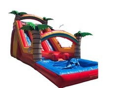 19ft Tropical Double Lane Slide