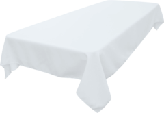 60inx108in White Tablecloth (Fits our 6ft Long Tables)
