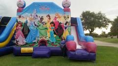 7 in 1 Princess Disney Slide Bounce House Combo Dry only