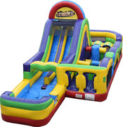 Xtreme Obstacle Course Water Slide (Wet/Dry)