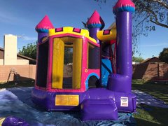 Pink Castle Slide Bounce House Combo (Dry Only)