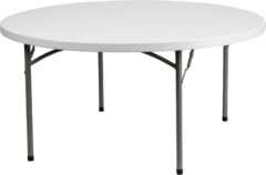 60 inch Round Table (Seats 8 Guest)