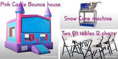 Bounce House, Tables, Chairs, and Snow Cone Package