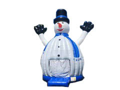 "Snowman ""frosty"" with LED Bounce House"