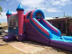 Pink Waterslide Bounce house Party Package