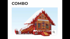 Gingerbread Holiday House Slide Combo