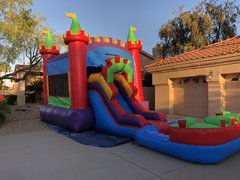 Castle 3 in 1 Bounce House Slide Combo