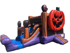 Jack O Lantern  Bounce House Slide Combo (Dry Only)