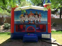 Power Rangers Bounce house 13x13