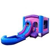 3 in 1 Pink Bounce House Slide Combo (Wet/Dry)