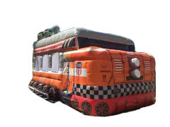3D Locomotion Train Bouncer 16x19ft