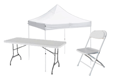 TABLES - CHAIRS - CANOPIES