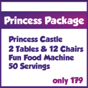 Princess Package Deal with Fun Food