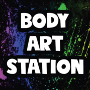 Deluxe Airbrush and Glitter Body Art Station