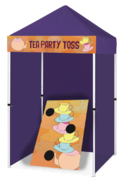 Tea Party Toss - Bean Bag Toss Game Booth
