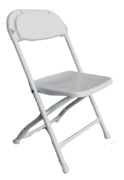 Economy White Folding Chair