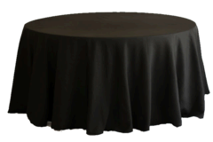 Round Table 120-inch Drape Linen