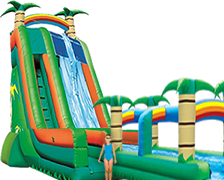 27 ft Tropical Splash with Slip n Slide