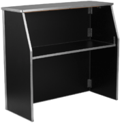 Portable Bar - Black Marble Laminate