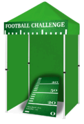 Football Challenge Cornhole Game Booth