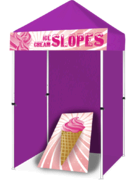 Ice Cream Slopes Cornhole Game Booth