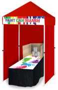 Paint Can Smash Game Booth