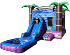 Island Paradise Water Slide Combo with Pool