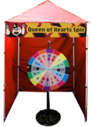 Queen of Hearts - Spin Wheel Game Booth