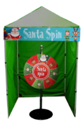 Santa Spin Wheel Game Booth