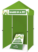Snakes in a Pit Cornhole Game Booth