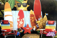 Summer Fun Props Photo Backdrop