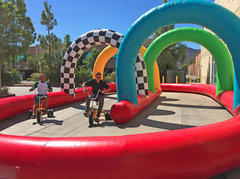 Wacky Race Track with 2 Giant Tricycles