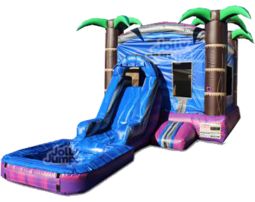 Island Paradise Water Slide Combo and Pool