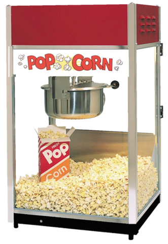 Popcorn Machine with Supplies