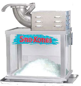Snow Cone Machine with Supplies
