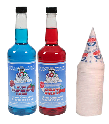 Snow Cone Supplies - 50 Servings