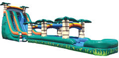 22' Big Tropical Dual Lane Waterslide with Slip N' Slide