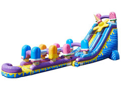 27' Popsicle Waterslide with Slip N' Slide
