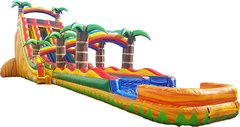 22' Dual Lane Tropical Rush with Slip N Slide