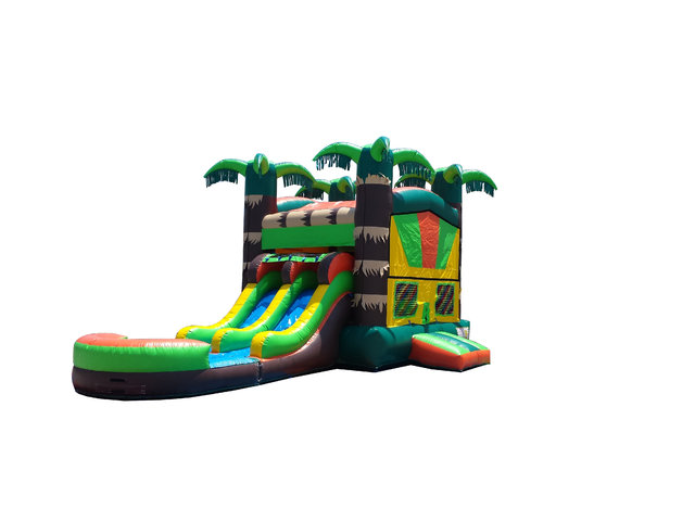 Tropical Jungle Bounce N' Slide (Wet)