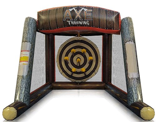 Newnan inflatable ax throwing game