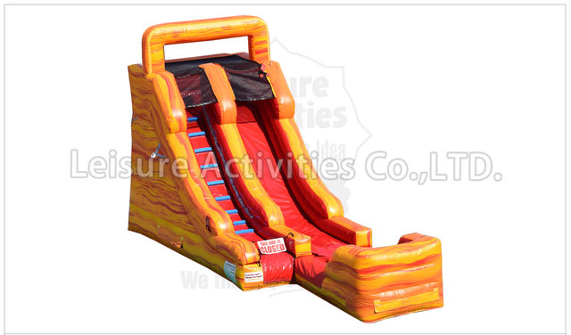 15 Foot Fire Marble Water Slide