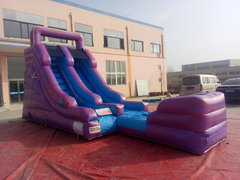 15 Foot Purple Marble Dry Slide